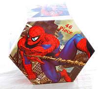 """Набор для детского творчества """"Человек-паук"""" (46 предметов) шестигранный"""