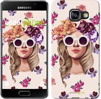 "Чехол на Samsung Galaxy A3 (2016) A310F Девушка с цветами v2 ""3569c-159"""