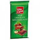 Молочный шоколад с дробленым фундуком Fin Carre, 100 гр, фото 2