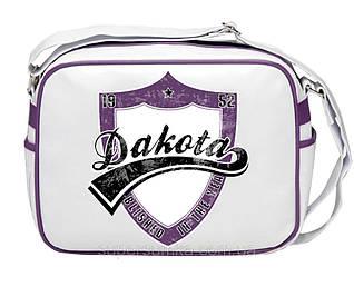Молодежная городская сумка из кожзама Dacota 551479 белая