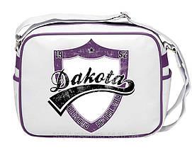 4a393d99f57c Молодежная городская сумка из кожзама Dacota 551479 белая