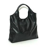 Небольшая женская кожаная сумка. Мод.15 черный флотар