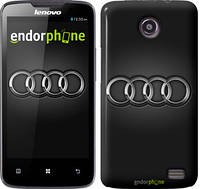 "Чехол на Lenovo A66 Audi. Logo v3 ""3106u-290"""