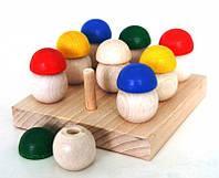 Деревянная Игра Собери грибочки 9 шт. РУДИ