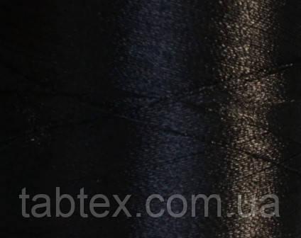 Нитка шелк/embroidery 120/2den.черный №D-244 3000ярд .  - Tabtex в Харькове