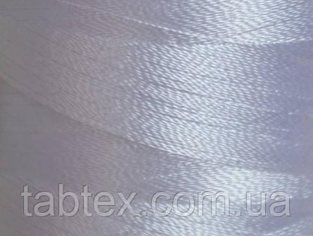 Нитка шелк для машинной вышивки embroidery 120den. белый №D-243 3000 ярд