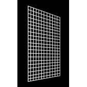 Металлическая торговая сетка 50/150см ячейка 5см БЕЛАЯ