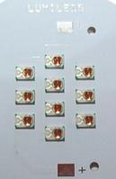 Модуль для растений на светодиодах Philips Lumileds 10шт(620nm)