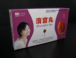 Китайские травяные тампоны  Beautiful Life «Qing Gong Wan» 6шт*