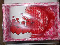 Кружка с сердцем к 14февраля