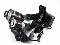 Ліхтар світлодіодний Bailong LL-6633 Велофара+налобний, фото 1