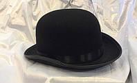 Карнавальная шляпа котелок черный