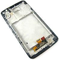 Дисплей (LCD) LG D800 G2/ D801/ D803/ LS980/ VS980 с сенсором белый оригинал + рамка