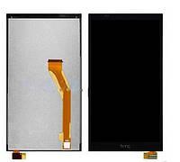 Дисплей (LCD) HTC 816 Desire/ D816w с сенсором черный,  желтый шлейф