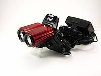 Фонарь светодиодный Bailong LL-6636 Велофара+налобный, фото 1