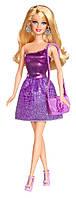 Кукла Барби Блестящая в фиолетовом платье, Barbie, Mattel, Фиолетовый