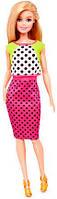 Кукла Барби Модница, блондинка в юбке в горошек, Barbie, Mattel,13