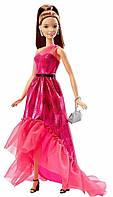 Кукла Барби, Розовая изысканность, шатенка в блестящем платье, Barbie, Matell