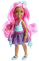 Челси, серия Endless Hair, мини-кукла с розовыми волосами, Barbie, Mattel