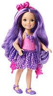 Челси, серия Endless Hair, мини-кукла с фиолетовыми волосами, Barbie, Mattel