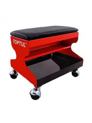 Сидіння автослюсаря подкатное 350х300х305мм 3 полиці Toptul (JCA-350A), фото 2