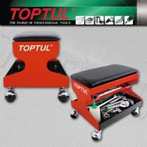 Сидіння автослюсаря подкатное 350х300х305мм 3 полиці Toptul (JCA-350A), фото 3