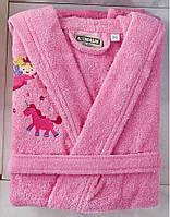 Детский халат ALTINBASAK розовый 4-6 лет.