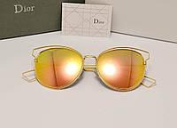 Женские солнцезащитные очки Dior Sideral 2  розово оранжевая линза, фото 1