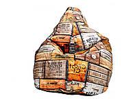Кресло мешок груша из ткани премиум Испания