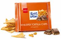Шоколад Ritter sport KNUSPER TORTILLA CHIPS (хрустящие чипсы тортилья) Германия 100 г