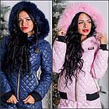 """Женский зимний костюм с мехом """"Moschino"""" (4 цвета), фото 2"""