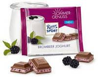 Шоколад Ritter sport BROMBEER JOGHURT (Ежевикой и йогуртом) Германия 100 г