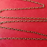 Цепь мужская серебряная, якорное плетение, 12,9 грамм, 550мм