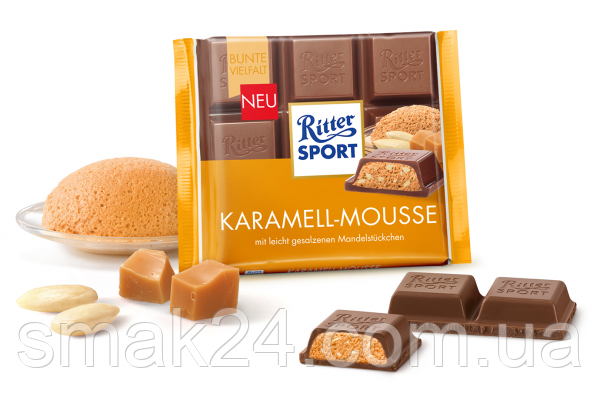 Шоколад Ritter sport KARAMELL-MOUSS (с карамельным муссом) Германия 100 г