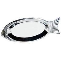 Блюдо для рыбы Kamille 4339 из нержавеющей стали 40см