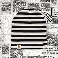 Варе Kids шапка детская демисезонная белая с черными полосками  Оптом