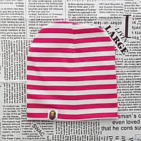 Шапка Варе Kids  серая с розовыми полосками  Оптом