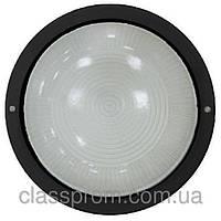 Светильник НПП2602А черный/круг без решетки пластик 60Вт IP54ИЭК