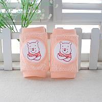 Наколенники для детей сетчатые Винни Пух Розовые  Оптом