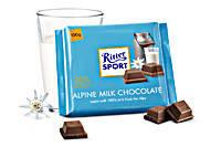 Шоколад RITTER SPORT ALPENMILCH (Альпийское молоко) Германия 100г