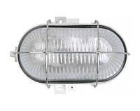 Светильник НПП2604А белый/овал с алюминиевой решеткой пластик 60Вт IP54 ИЭК