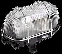 Светильник НПП2604А черный/овал с алюминиевой решеткой пластик 60Вт IP54 ИЭК