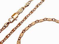 Набор: цепочка+браслет фирмы Xuрing.Позолота с крас. от.  Длинна цепочки 56 см, ширина 3 мм. Браслет 21 см.