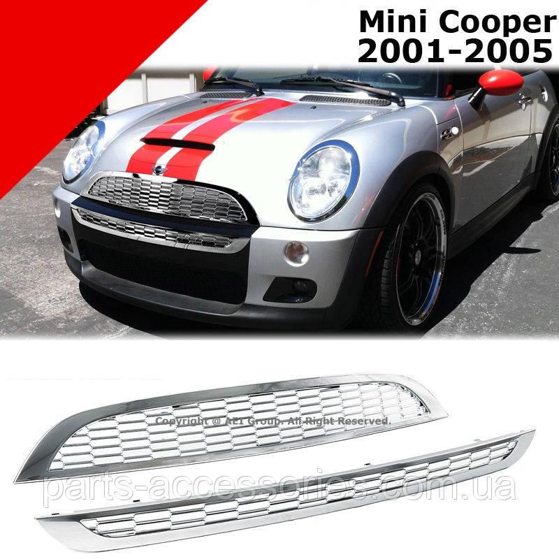 Mini Cooper R50 R52 R53 2001-05 хромовая решетку радиатора Новая