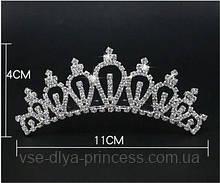 Дитяча корона, діадема на гребінці, тіара для дівчинки, висота 4 див.