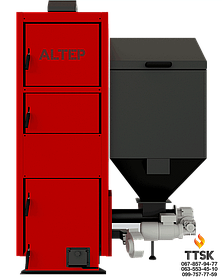 Котел на пеллетах с автоматической подачей топлива Альтеп Duo Pellet N (КТ-2ЕSHN) мощностью 15 кВт
