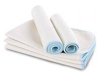 Непромокаемая пеленка бамбуковая одностороння +дышащая мембрана, размер 50Х70 см. Оптом