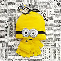 Детский демисезонный вязанный комплект: шапка и хомут Оптом