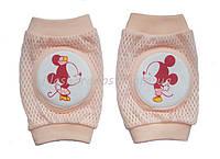 Наколенники для малышей сетчатые Микки Маус Розовый