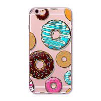 Силиконовый чехол Пончики на iphone  6 6S